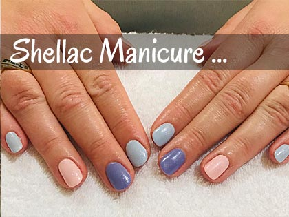 shellac manicure at Bliss Beauty Salon in Portsmouth